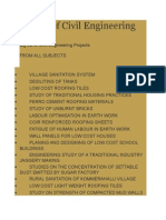 Big List of Civil Engineering Projects