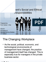 Management's Social and Ethical Responsibilities