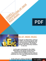 Codes and Conventions of Indie Rock Music