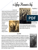 socio-historical context- the women's suffrage movement in italy