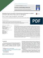 Evaluación Basada en La Fiabilidad de Deterioro de Los Resultados de Pavimento de Asfalto Bajo Ciclos de Congelación y Deshielo en Las Regiones Frías
