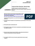 Deliberation Unit - Background Videos Worksheet (5 Points)