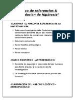 Marco de Referencias & Formulacion de Hipotesis
