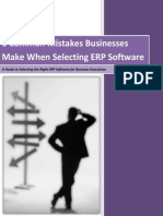 6 Common Mistakes Businesses Make When Selecting ERP Software