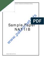 Sample Paper NAT IIB