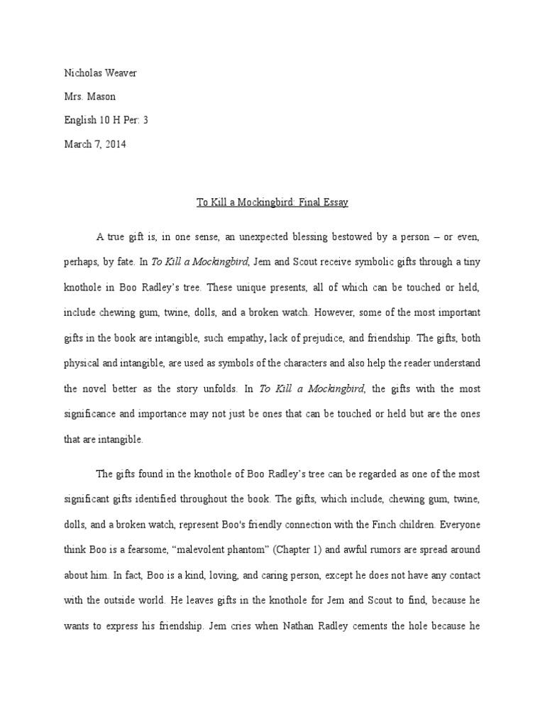 To kill a mockingbird essay on prejudice