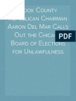 Cook County Republican Chairman Aaron Del Mar Calls Out the Chicago Board of Elections for Unlawfulness