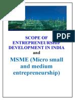 Scope of Entrepreneurship Development in India