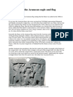 The origin of the Aramean eagle and flag