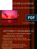Introduccion a la fisica, Vectores y Escalares 2010 Ctp