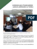 Condiciones Sanitario-Ambientales en Táchira