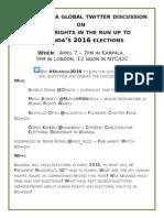 Flyer re Uganda tweet chat 2016