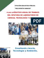 Plan de trabajo de Laboratorio de CTA. 2015