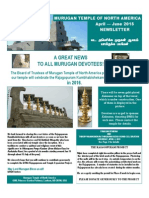 Murugan Temple April May June Newsletter