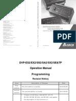 Delta PLC DVP ES2/EX2/SS2/SA2/SX2/SE/TP Operation Programming Manual