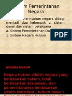 Sistem Pemerintahan Negara