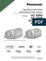 Guide Eng Panasonic HC-x900