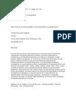 Relaciones de Intertextualidad en Discursos Políticos Presidenciales