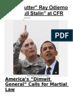 Army 'Nutter' Ray Odierno Goes GÇÿFull StalinGÇÖ at CFR -- AmericaGÇÖs GÇÿDimwit GeneralGÇÖ Calls for Martial Law.docx