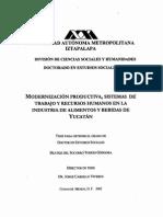 Modrnización de la estructura Productiva en Yucatán