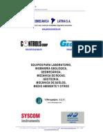 Listado de Instrumentación Geotécnica Geomecánica_2013_v1