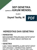 Konsep Genetika Dan Hukum Mendel