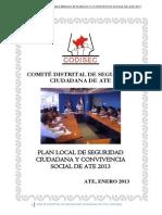 BUENASO...Plan Local de Seguridad Ciudadana y Convivencia Social 2013