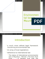 Environmental Law in Mauritius