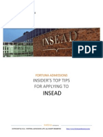 Insider's Top Tips for Applying to INSEAD