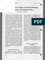 A Framework for Analysis of Agricultural Marketing Systems in Developing Countries