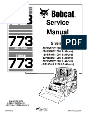 Bobcat 773 Service Repair Manual | Elevator | Mechanical