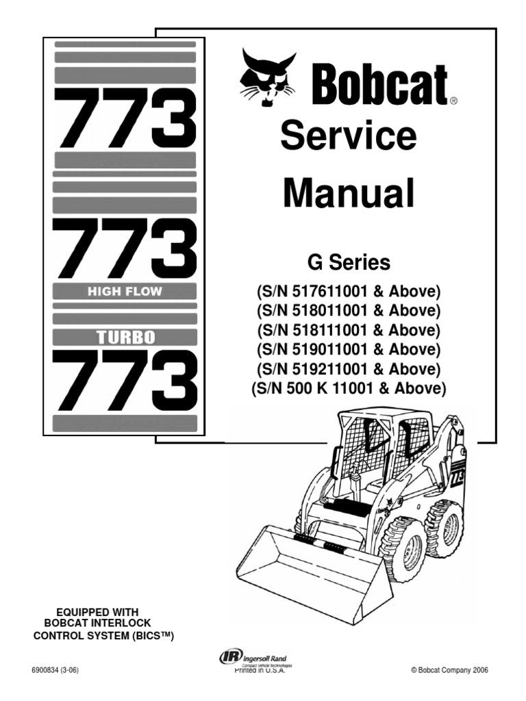 bobcat 773 service repair manual elevator mechanical engineering rh scribd com