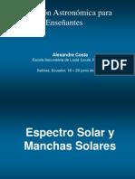 4 Espectro Solar y Manchas Solares_ppt