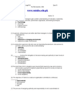 Princilpes of Management - MGT503 Fall 2006 Quiz 01 Solution