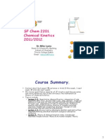 SF Chemical Kinetics Michaelmas 2011 L1-2