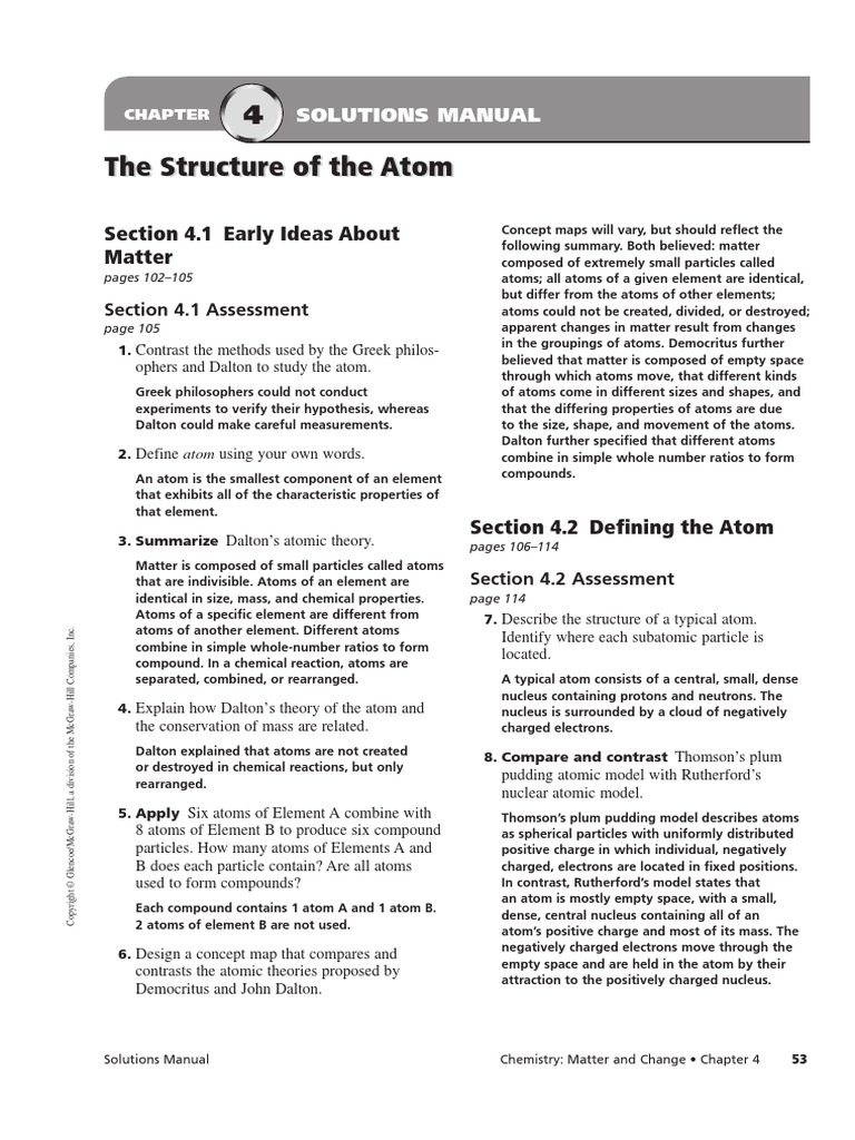 Chapter 4 assessment solution manual the structure of the atom chapter 4 assessment solution manual the structure of the atom atoms atomic nucleus robcynllc Gallery