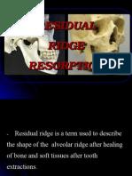 Rrrresidual ridge resorbtion ppt