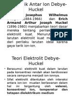 Gaya Tarik Antar Ion Debye-Huckel