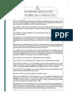 ANB ABOGADOS Novedades Legislativas Noviembre 2014 a Marzo 2015