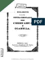 Chihuahua Coahuila Contr Are Sguardo 1850