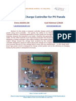 Intelligent Charge Controller for PV Panels