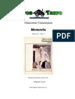Las memorias de Giacomo casanova