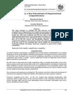 Munodawafa Njovo - Service Quality - A Key Determinant of Organisational Competitiveness