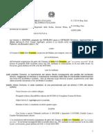 Cataldo Laura e Giorolama Tar Presentato Ricorso 200 Sentenza 1325 2001 Acquisizione Terreno via Favarotta