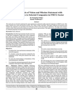 Critical Analysis of Vision and Mission Statement With Special Reference to Selected Companies in FMCG Sector 366066880