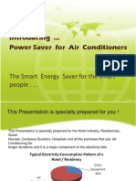 Power Saver for Air Conditioner for the Hotel Industry