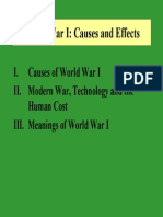 HIS 102 WWW World War I Causes and Effects