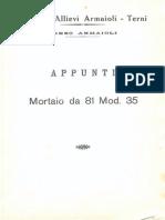 Appunti Mortaio Da 81 Mod. 35