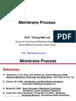 Membrane Separation Processes - Prof.chung Hak Lee