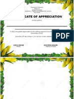 Certificate- For Parents